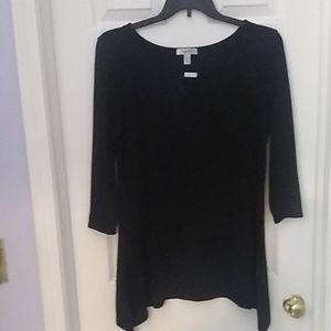 Dress Barn Black with Silver Keyhole Bar Dress XL